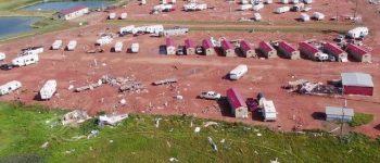 طوفان شدید در آمریکا با یک کشته و ۲۸ زخمی